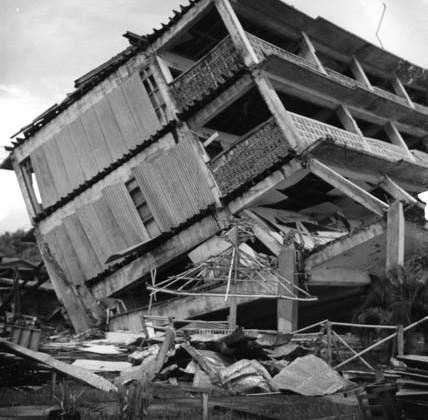 collapsed garage